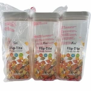 NWT Set of 3 Felli Flip Tite Pasta Canisters